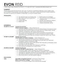 Sample Tech Resume Sample Resume For Technician Sample Resume For