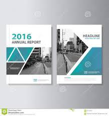 Blue Green Vector Annual Report Magazine Leaflet Brochure