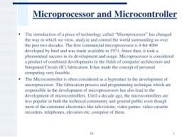 Microprocessor And Microcontroller Powerpoint Slides