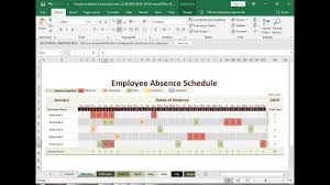 Make Schedule On Excel 227 How To Make Employee Absence Schedule In Excel Hindi Part1