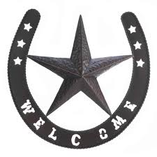 metal star wall decor: texas star metal wall plaque horse shoe big wall artmetal art work texas home