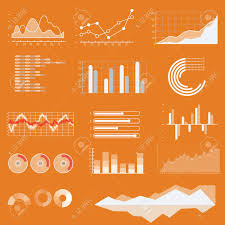 Vector Graphs And Charts Thin Line Vector Graphs Charts And Diagrams With Flat Elements