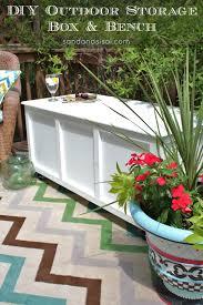 diy outdoor storage box bench