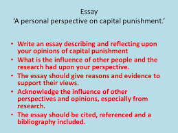 the death penalty learning objectives to identify supported and  8 essay a personal perspective on capital punishment