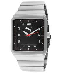 puma mens take pole position black dial stainless steel puma watch gallery