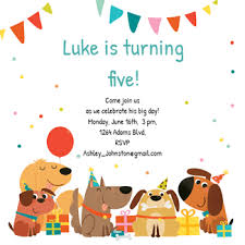 Online Printable Birthday Party Invitations Dog Birthday Invitation Template Free In 2019 Free