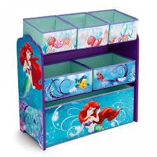 Little Mermaid Bedroom Decor Delta Tb84941lm Disney Little Mermaid Multi Bin Toy Storage Organizer