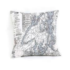 Nautical Chart Pillows Puget Sound Nautical Chart Pillow