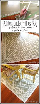 paint a pattern onto a linoleum remnant to make a custom and