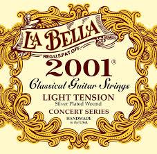 La Bella String Tension Chart