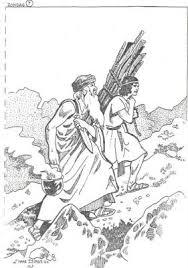 Kleurplaten Ot Abraham En Izaäk Op Moria Kleurplatendatabase
