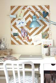 crafty decorating painted cork tile pinboard