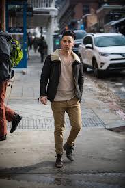 short men clothes leather jacket