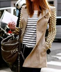 jacket studded jacket beige studded trench coat coat classy trench coat trench coat brown trenchcoat