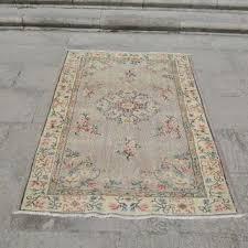 turkish kilim rug small rug vintage oushak rug ethnic rug ant