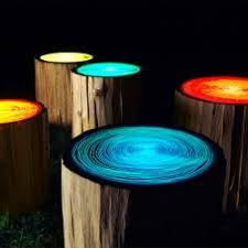 funky bathroom lights: these funky tree ring lights are designed by judson beaumont of straight line designs a