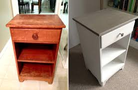 before and after vertical nightstand