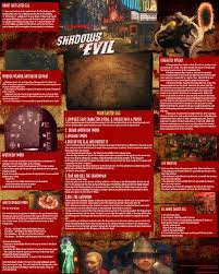 How To Make A Quick Reference Guide Response Was Outstanding Yesterday So I Made A Shadows Of Evil Quick