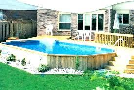 Above Ground Swimming Pool Deck Designs Custom Decorating Design