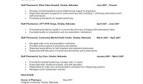 Example Of Pharmacist Resume Retail Pharmacist Resume Example Of
