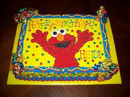 9 Birthday Cakes Elmo Sheet Photo Elmo Birthday Cakes Ideas