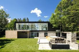 modern home architecture. Delighful Modern Modern Home Landscaping View In Gallery Riverside Architect 1  Backyard Thumb   To Modern Home Architecture D