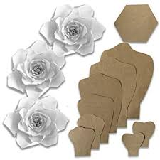 Flower Templates For Paper Flowers Paper Flower Template Kit Make Your Own Paper Flowers Paper Flowers Decorations For Wall Make Unlimited Flowers Diy Do It Yourself Make All