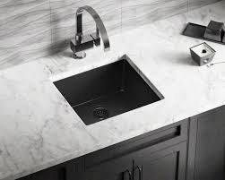 Black Kitchen Sink 805 Black Single Bowl Trugranite Sink