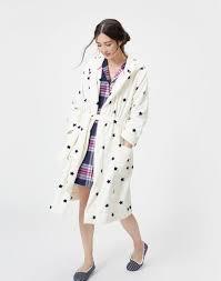 Rita Star Pattern Delectable Rita Cream Star Fleece Dressing Gown Joules UK