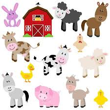 Vector Collection Of Cute <b>Cartoon Farm</b> Animals And <b>Barn</b> Royalty ...