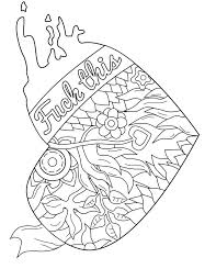 Fun Coloring Pages To Print Swear Word Coloring Page Coloring Pages