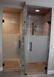 3 8 clear glass doors and panels with frosted middle sections
