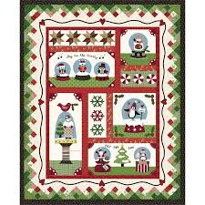 Quilt Kits at Quilted Christmas & Maywood Snow Globe Village Kit Adamdwight.com