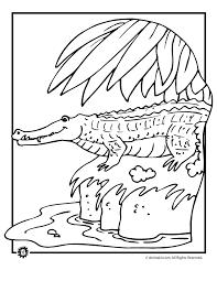 Small Picture crocodile coloring page Alligator and Crocodile Coloring Pages