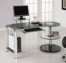Uncategorized, Ikea Custom Office Desk And Glass Worktop Also Round Shelves  For Book: Amazing