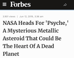 Asteroid Psyche 16 Could Be The Heart Of A Dead Planet