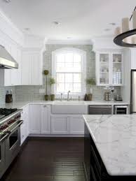 White Kitchen Wood Floors Good White Kitchens With Dark Backsplash Andrea Outloud
