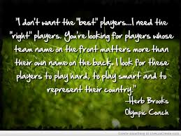 Herb Brooks Quotes Amazing Inspirational Quotes About Team Sports Membership On QuotesTopics