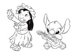 very lilo stitch coloring page