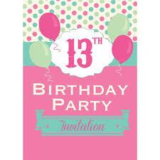 B Day Invitation Cards 13th Birthday Invitation Cards Poka Dot Small