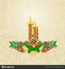 Weihnachten Kerzenlicht Mit Fichte Weiß Weihnachtsstern Und