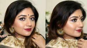 festive makeup tutorial for dusky indian skin clista