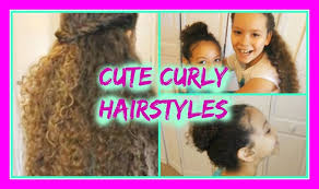 little hairstyles for long curly hair cute hairstyles for curly hair you