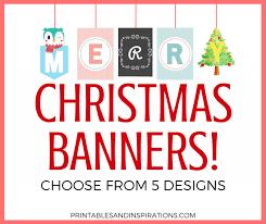 Free Printable Merry Christmas Banners Printables And