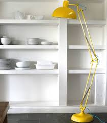acid yellow angled floor lamp table floor lamps