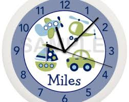 Personalized Transportation Car Nursery Wall Clock For Boyu0027s Nursery Or  Bedroom