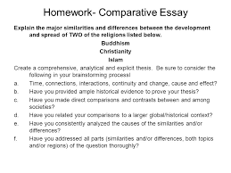 homework comparative essay explain the major similarities and  homework comparative essay explain the major similarities and differences between the development and sp of