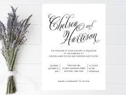 Traditional Wedding Invitation Black And White Wedding Invitation Formal Simple Traditional