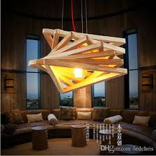 novelty modern handmade wood pendant lights for bar restaurant handmade light fixtures