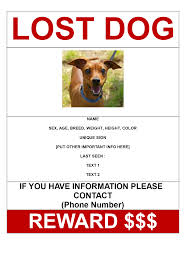 Missing Poster Template Mobawallpap And Generator Dog Flyer